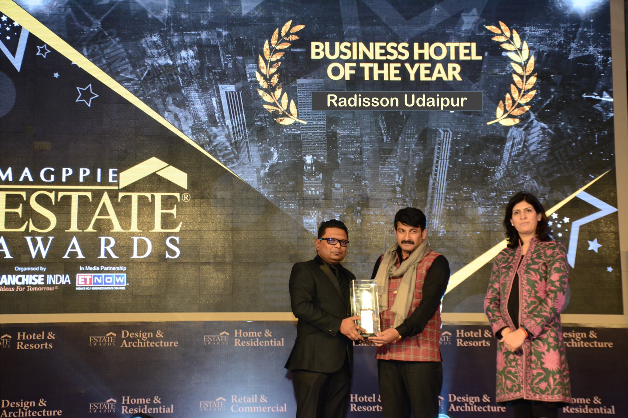 'Best Business Hotel Award 2016' goes to Radisson Udaipur