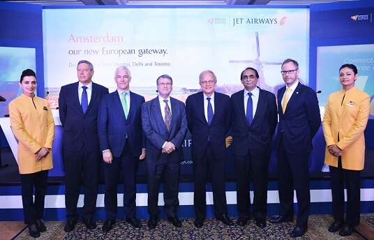 Jet Airways new European gateway: Amsterdam