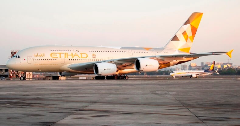 LUXURY WITH ETIHAD AIRWAYS' FIRST AIRBUS A380 TO INDIA