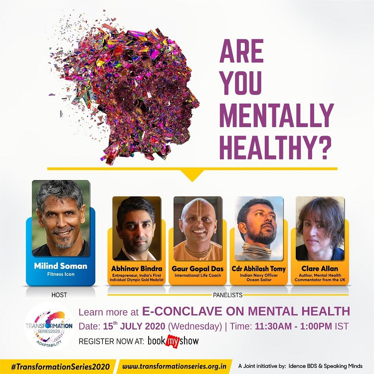 Milind Soman's Transformation Series announces session on Mental Health