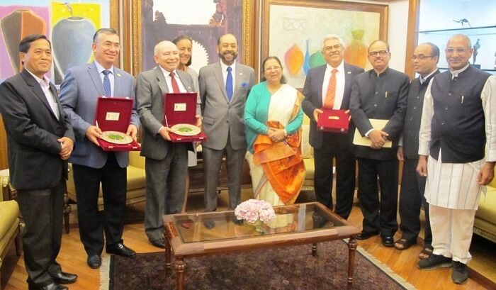 Mexican Delegations of Parliament on an official visit to India