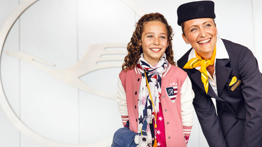 Children are an important customer group for Lufthansa.