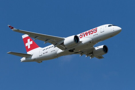 SWISS: Bombardier C Series into commercial service